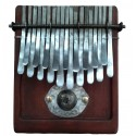 Kalimba 19 key Large in F major / G major Tuning - Thumb piano African Nyunga nyunga - Brown Wood