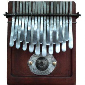 Kalimba 19 key Large in Major Tuning - Thumb piano African Nyunga nyunga - Brown Wood