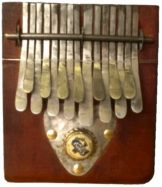 Kalimba Medium in A - Brown - Heart Buzzer