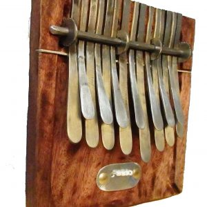 Large African Kalimba in major key G, F or F-sharp
